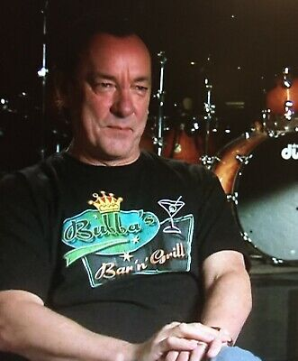 Rare Neil Peart Bubba's Bar & Grill T-Shirt Rush Gump Moon Official Licensed HTF