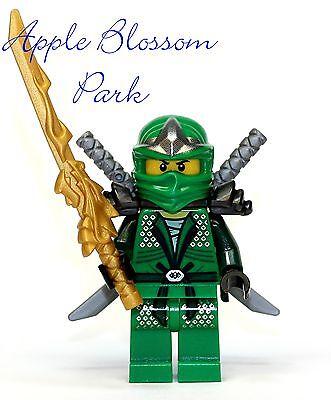 Lego Ninjago Green Ninja Minifig - Lloyd Zx Minifigure W/dragon Sword -9450
