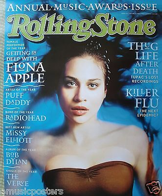 "FIONA APPLE ""ROLLING STONE"" POSTER FROM 1998 - Hauntingly Beautiful Water Shot"