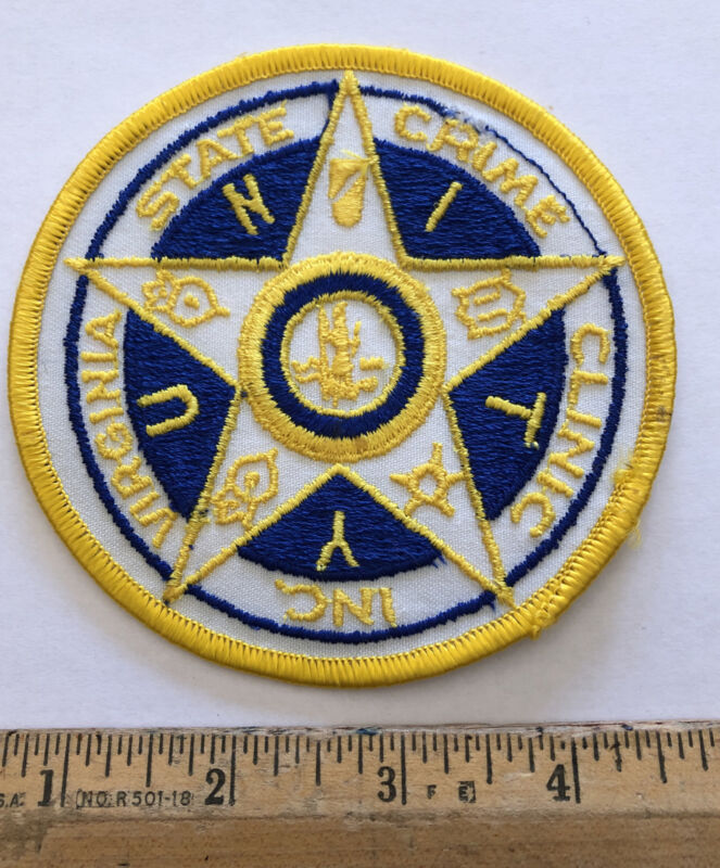 Vintage VIrginia State Crime Clinic Inc Unity Patch Police Concord