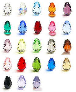 2Pcs-SWAROVSKI-Elements-Crystal-5500-Teardrop-BEAD-10-5mm-x7mm-U-Pick-Color