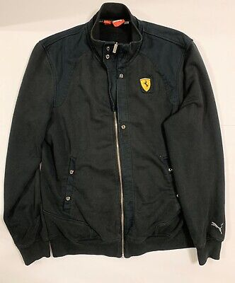 Puma X Ferrari Full Zip Up Jacket Hoodie Size Large