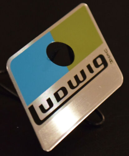 Ludwig Blue/Olive Reproduction Badge w/ Correct Brushed Metal Area for Serial #