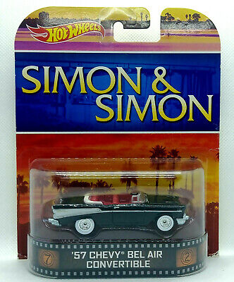 Hot Wheels Entertainment 1957 57 CHEVY BEL AIR CONVERTIBLE Simon & Real Riders