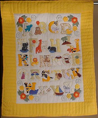 ABC'S Hand Sewn Patchwork Baby Quilts or Wall Hanging ~38