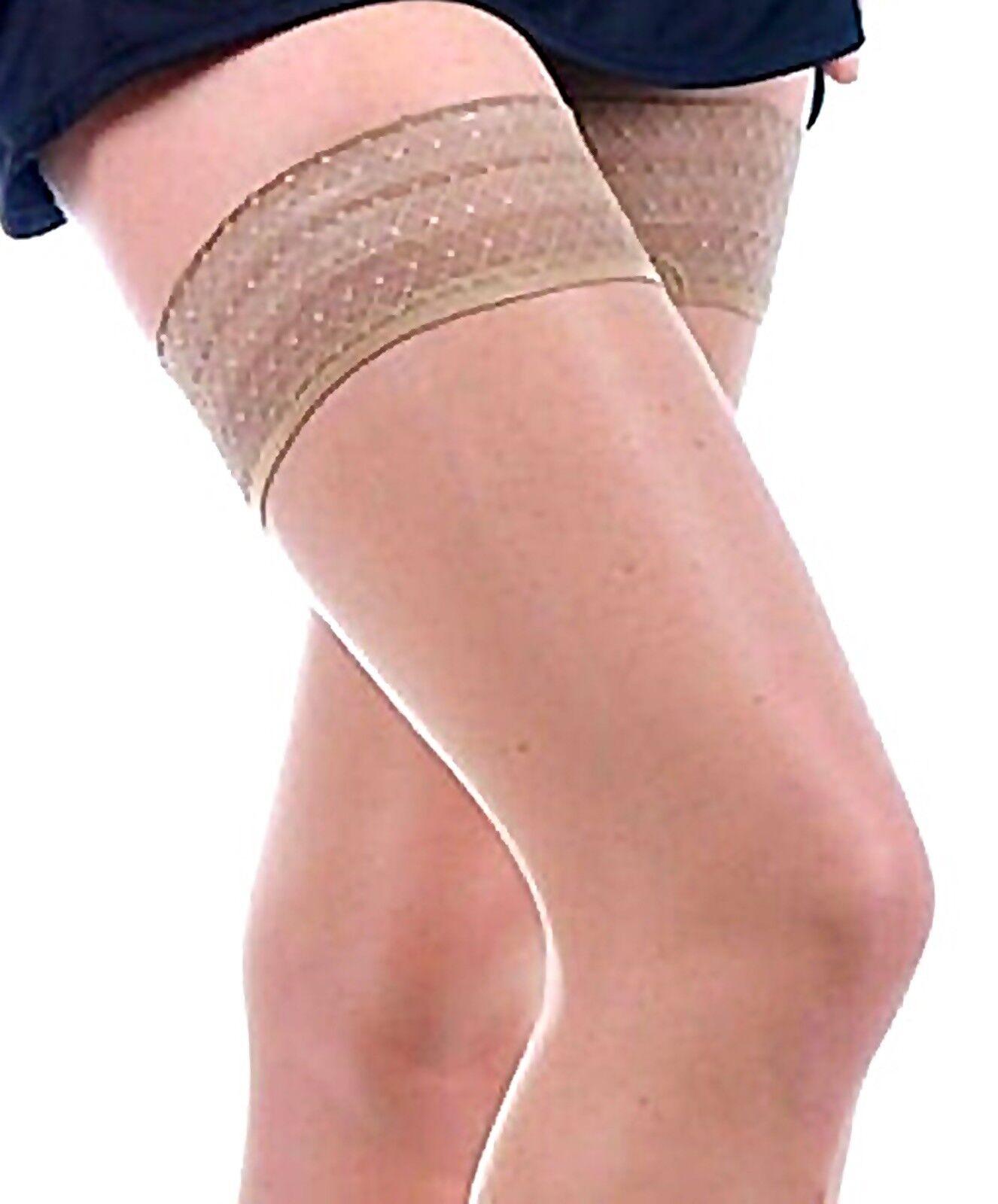 SALE! halterlose Strümpfe transparent klimaregulierent haut frische Beine 10 den