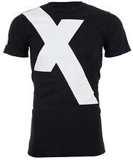 "ARMANI EXCHANGE Mens T-Shirt ""X"" LOGO Premium BLACK WHITE Designer $45 NWT"