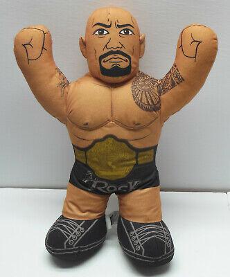 "THE ROCK WWE Wrestling Brawlin Buddies 16"" Plush Toy 2012 Mattel Dwayne Johnson"
