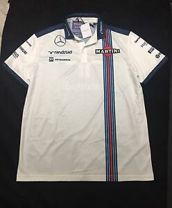 Williams Martini F1 Racing Polo Shirt Mercedes-White-Size: XL Kariong Gosford Area Preview