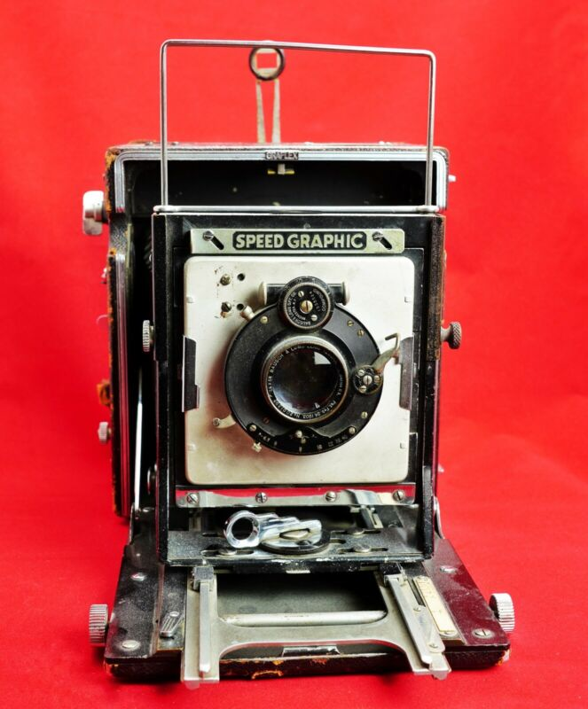 VINTAGE GRAFLEX SPEED GRAPHIC SPECIAL 4X5 PRESS/VIEW CAMERA BAUSCH & LOMB LENS