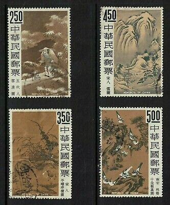 taiwan stamps - 1966 - chinese paintings issue - good used - sg577-580