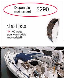 Panneaux solaire, panneau FLEXIBLE,100 a 300 watts,  bateau , Vr