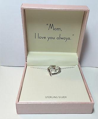 Hallmark  Sterling Silver 18  Necklace  Mom  I Love You Always   Nib