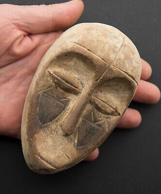 Mask Galoa Pasport African Gabon Wood 13cm Galwa Art First 16878