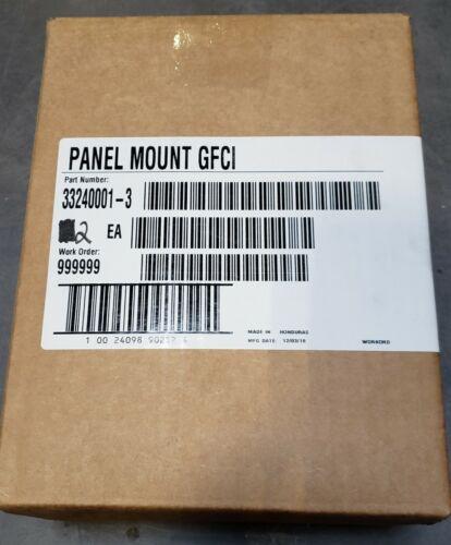 33240001 3 TRC GROUND FAULT CIRCUIT INTERRUPTER PANEL MOUNT  (jc)