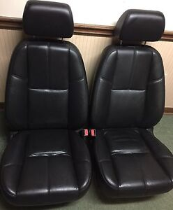 Black leather seats Chevy gmc