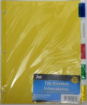 Jot Standard 3-ring Binder Tab Dividers With Tabs Mixed Colors 1 Pack