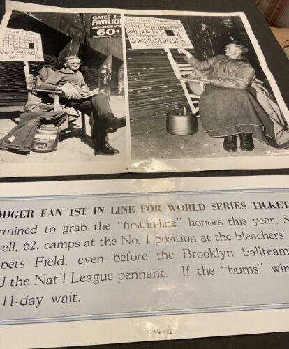 1940 s BROOKLYN DODGERS ORIGINAL 17x14 PHOTOCRAFT FAN 1st IN LINE WORLD SERIES  - $9.99