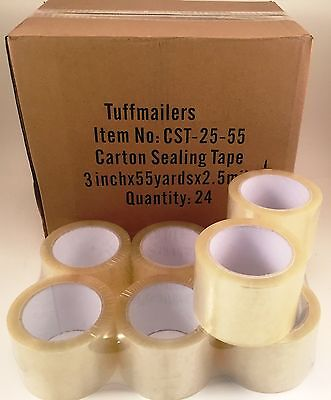 24 rolls Carton Sealing Clear Packing/Shipping/Box Tape- 2.5 Mil- 3