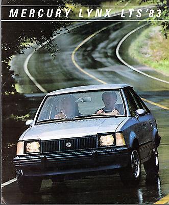 Mercury Lynx LTS 1983 USA Market Foldout Sales Brochure