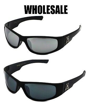 WHOLESALE LOT Motorcycle Biker Gangster Black & Mirror Chopper Sunglasses  - Wholesale Black Sunglasses