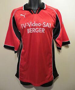 Vtg-PUMA-90s-Football-Shirt-Retro-Soccer-Jersey-Trikot-Maglia-Camisa-Skjorte-XL
