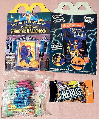 1998 McDonalds Happy Meal - Haunted Halloween - MIP RONALD (#5) + BOX + NERDS
