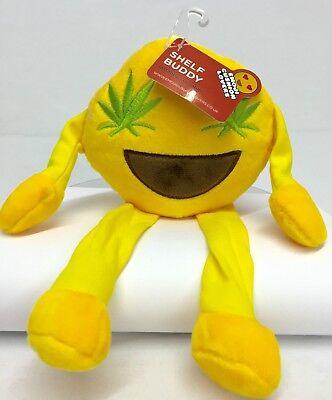 Regal Plüsch (Emoji Regal Kumpel Plüsch Gelbes Rundes Weich Ausgestofftes Spielzeug mit Grün)
