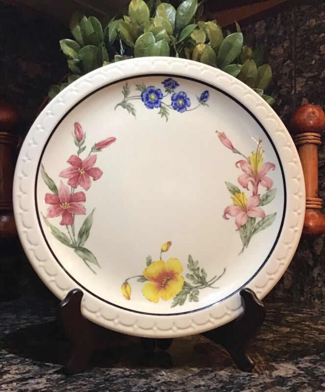 """SOUTHERN PACIFIC RR Syracuse Prairie Mountain Wildflowers 9 1/2"""" Dinner Plate"""