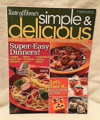 Taste of Home Magazine Simple & Delicious Sept / Oct. 2007 108 Quick Halloween ](Taste Of Home Halloween Magazine)