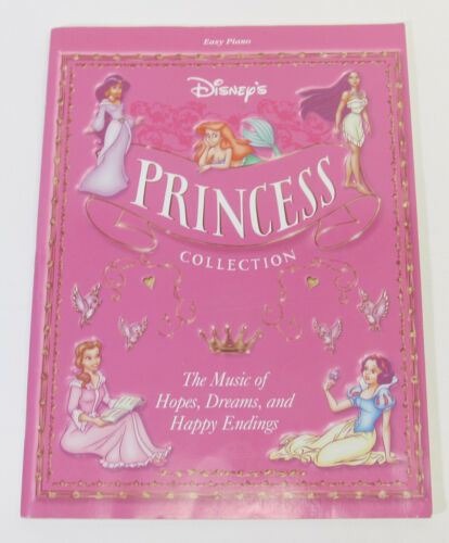 Disney PRINCESS Collection Easy Piano Music Pink Cover