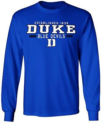 Duke Blue Devils Shirt T-Shirt Long Sleeve Duke Blue Devils T-shirt