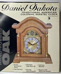 NEW Daniel Dakota Tempus Fugit Quartz Westminster Chime Mantel Clock Tested