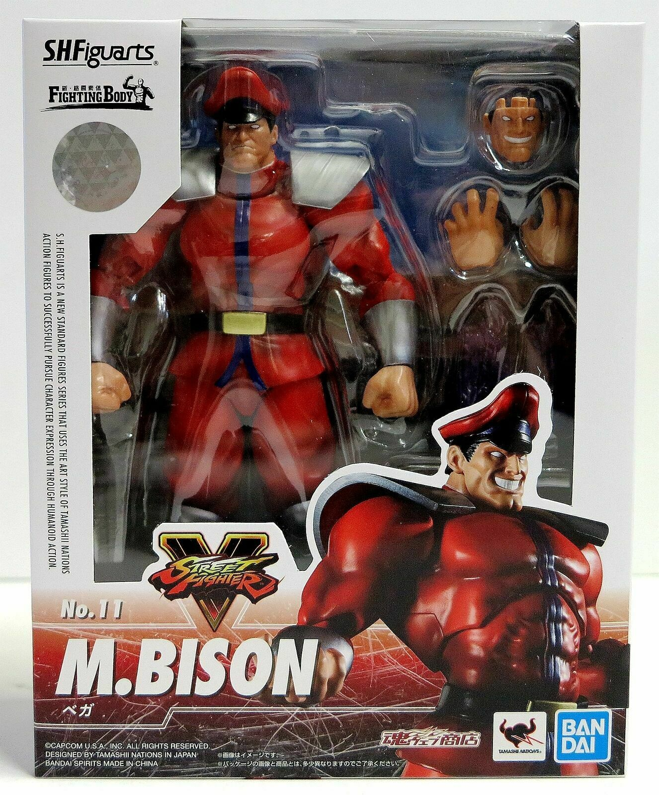 S H Figuarts M Bison Action Figure Street Fighter No 11 Bandai