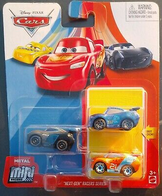 2020 DISNEY PIXAR CARS METAL MINI RACERS NEXT-GEN RACERS SERIES RALPH CARLOW +2