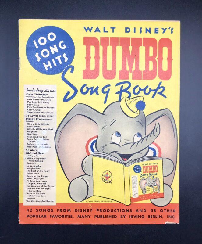 1941 Walt Disney's Dumbo Song Book Vintage Disney Very Rare