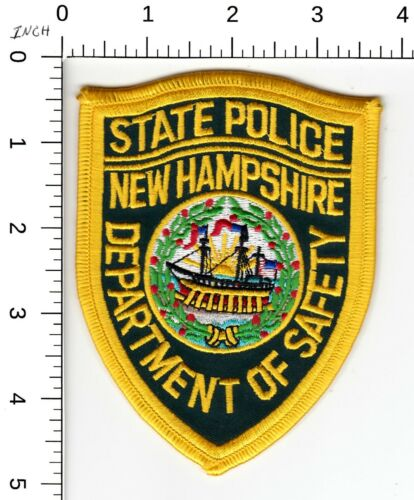 NEW HAMPSHIRE STATE POLICE DEPARTMENT OF SAFETY SHOULDER PATCH NH
