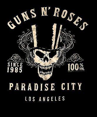 GUNS N' ROSES cd lgo PARADISE CITY 1985 Official TANK TOP SHIRT LRG OOP appetite