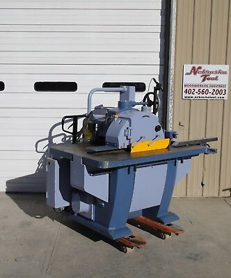 Oliver Straight Line Rip Saw 4925 001 With Laser 15 Hp 2 Hp 3 Ph 4500 Rpm