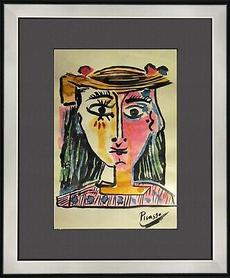 PABLO PICASSO - old handmade watercolor BEST PRICE (Pablo Picasso Best Artwork)