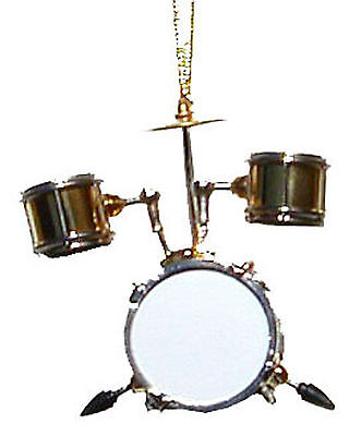 "Bass Drum handmade gold plated collectible miniature hanging Ornament 2.5"" x 3"" segunda mano  Embacar hacia Mexico"