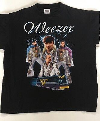 Weezer 1990's Brush Your Teeth & Do Your Homework Concert XL T-Shirt w/Elvis Bus