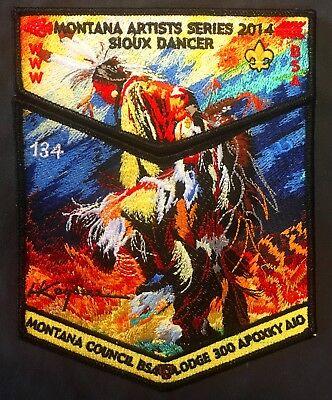 APOXKY AIO OA 300 MT MONTANA HARRY KOYAMA SIOUX DANCER 2-PATCH #134 of 154 MADE