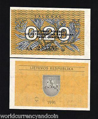 LITHUANIA 0.20 20 CENTS P30 1991 FULL BROCK BUNDLE EURO HORSE UNC 1000 PCS NOTE