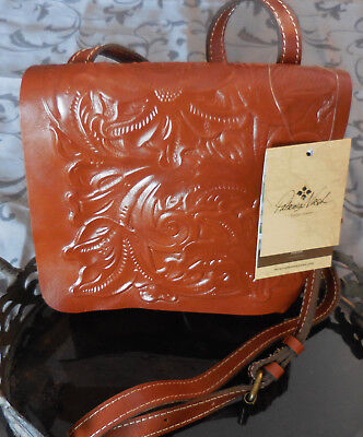Patricia Nash Granada Leather Tooled Crossbody Bag Purse Brown Florence Nwt  129