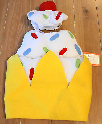 New Pottery Barn Kids BANANA SPLIT Costume Baby Infant Size 12-24 Months - Baby Banana Costume