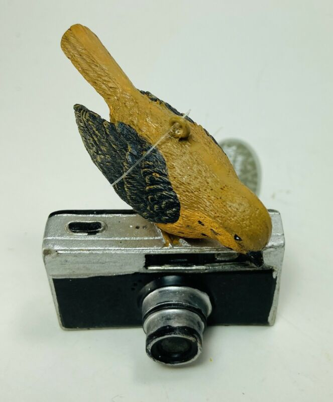 Midwest CBK Bird with Camera bird watcher Resin Christmas Ornament