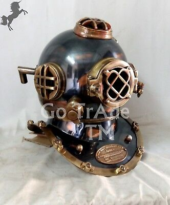 Antique US Navy Diving Helmet Boston Deep Sea Divers Scuba Marine Christmas Gift