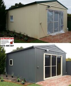 PAINTER SPRAY PAINTING Fences Sheds Roofs Carports Roller Doors etc Adelaide CBD Adelaide City Preview