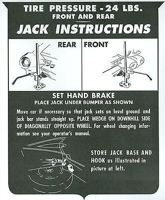 1959-60 Cadillac Jack Instruction Notice